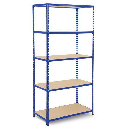 Rapid 2 Shelving (1600h x 915w) Blue - 5 Chipboard Shelves