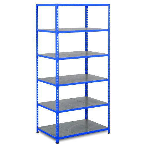 Rapid 2 Shelving (1600h x 915w) Blue - 6 Galvanized Shelves