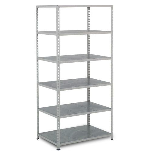 Rapid 2 Shelving (1600h x 915w) Grey - 6 Galvanized Shelves