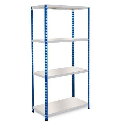 Rapid 2 Shelving (1600h x 915w) Blue & Grey - 4 Melamine Shelves