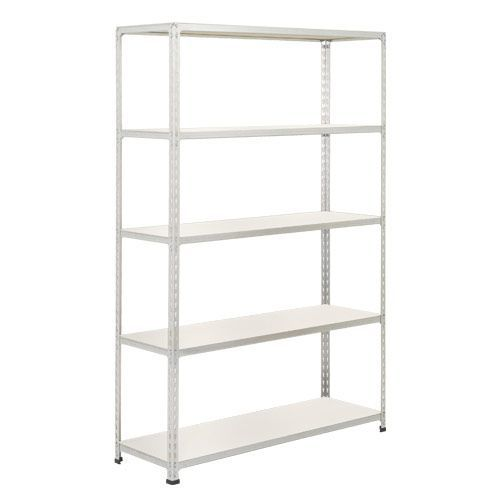 Rapid 2 Shelving (1600h x 1220w) Grey - 5 Melamine Shelves