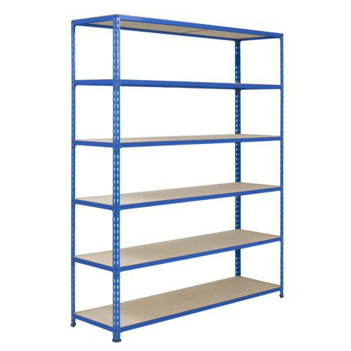 Rapid 2 Shelving (1600h x 1220w) Blue - 6 Chipboard Shelves