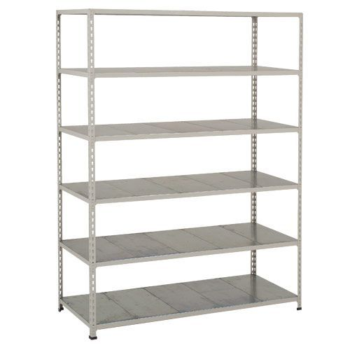 Rapid 2 Shelving (1600h x 1220w) Blue & Grey - 6 Galvanized Shelves