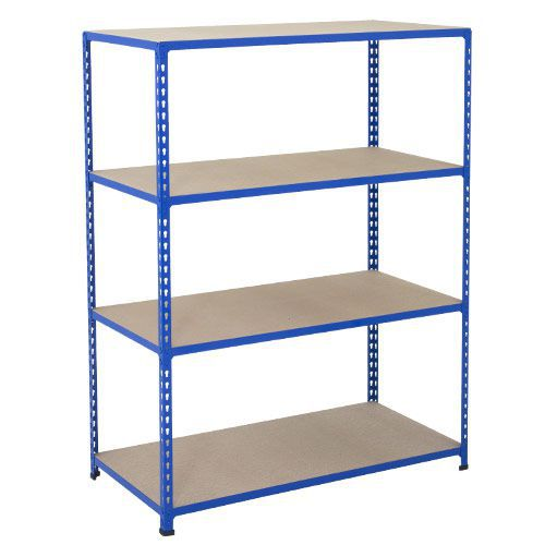 Rapid 2 Shelving (1600h x 1525w) Blue - 4 Chipboard Shelves
