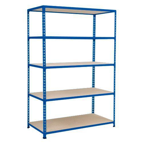 Rapid 2 Shelving (1600h x 1525w) Blue - 5 Chipboard Shelves