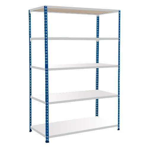 Rapid 2 Shelving (1600h x 1525w) Blue & Grey - 5 Melamine Shelves