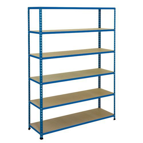 Rapid 2 Shelving (1600h x 1525w) Blue - 6 Chipboard Shelves