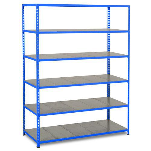 Rapid 2 Shelving (1600h x 1525w) Blue - 6 Galvanized Shelves