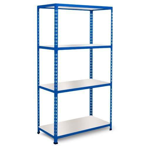 Rapid 2 Shelving (1600h x 1525w) Blue - 4 Melamine Shelves