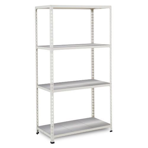 Rapid 2 Shelving (1600h x 1525w) Grey - 4 Galvanized Shelves