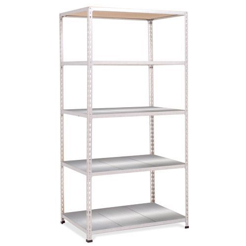 Rapid 2 Shelving (1980h x 915w) Grey - 5 Galvanized Shelves