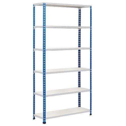 Rapid 2 Shelving (1980h x 915w) Blue & Grey - 6 Melamine Shelves