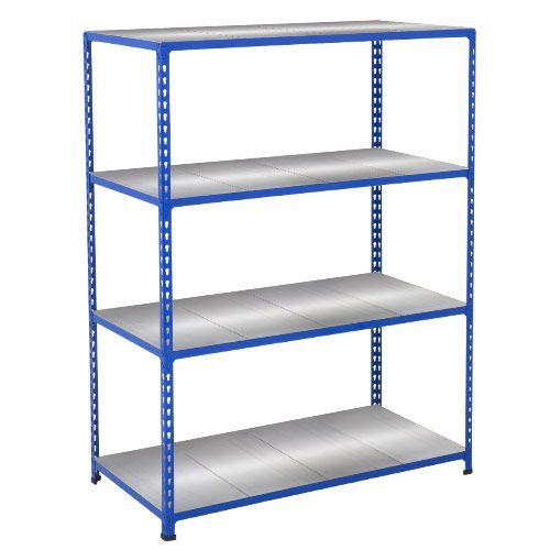Rapid 2 Shelving (1980h x 1220w) Blue - 4 Galvanized Shelves