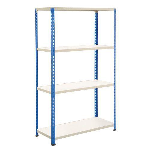 Rapid 2 Shelving (1980h x 1220w) Blue & Grey - 4 Melamine Shelves