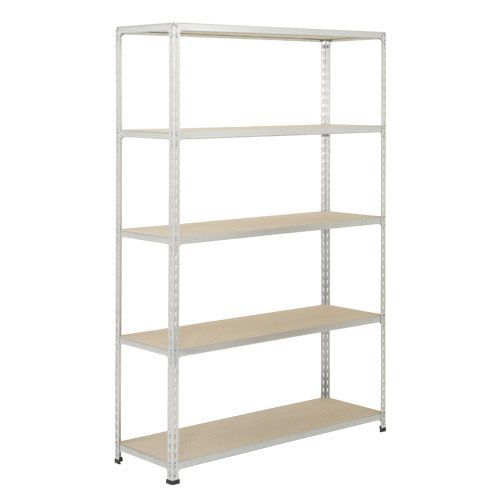 Rapid 2 Shelving (1980h x 1525w) Grey - 5 Chipboard Shelves