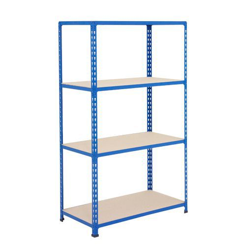 Rapid 2 Shelving (1980h x 1220w) Blue - 4 Chipboard Shelves