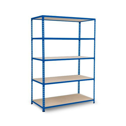 Rapid 2 Shelving (1980h x 1220w) Blue - 5 Chipboard Shelves
