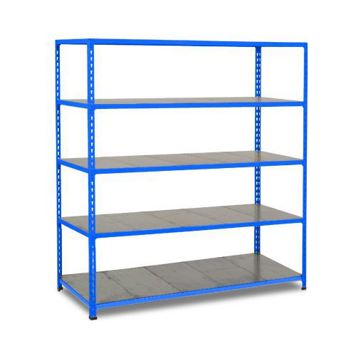 Rapid 2 Shelving (1980h x 1220w) Blue - 5 Galvanized Shelves