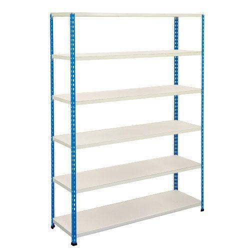 Rapid 2 Shelving (1980h x 1525w) Blue & Grey - 6 Melamine Shelves