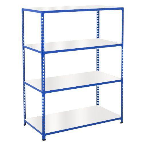 Rapid 2 Shelving (1980h x 1525w) Blue - 4 Melamine Shelves