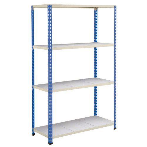 Rapid 2 Shelving (1980h x 1525w) Blue & Grey - 4 Galvanized Shelves