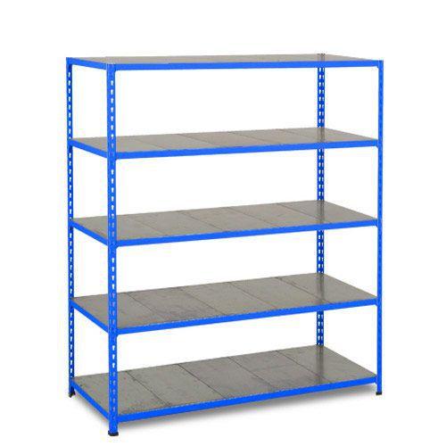 Rapid 2 Shelving (1980h x 1525w) Blue - 5 Galvanized Shelves