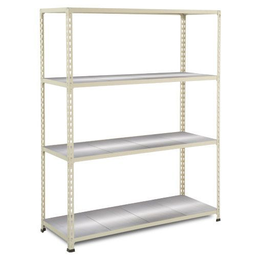 Rapid 2 Shelving (1980h x 1525w) Grey - 4 Galvanized Shelves