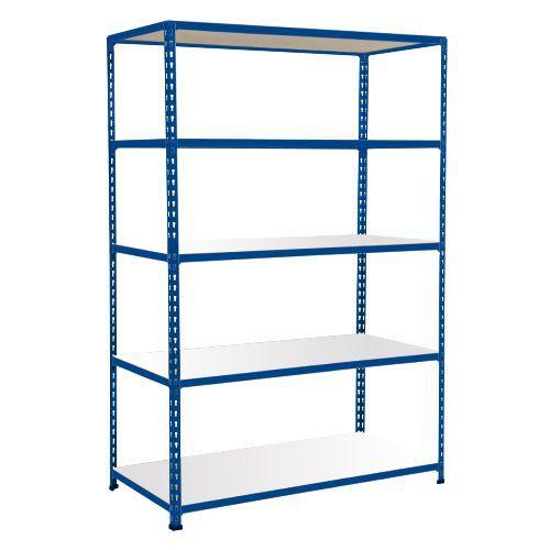 Rapid 2 Shelving (1980h x 1525w) Blue - 5 Melamine Shelves