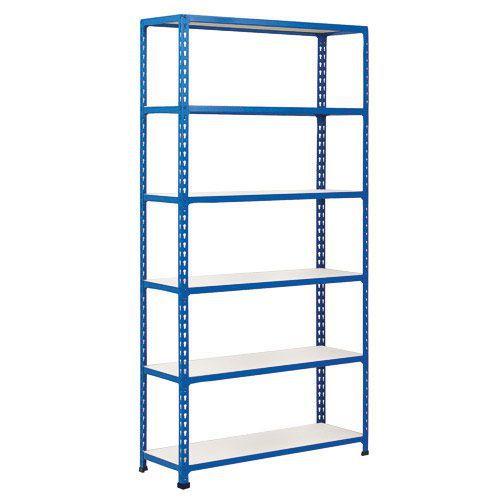 Rapid 2 Shelving (2440h x 915w) Blue - 6 Melamine Shelves