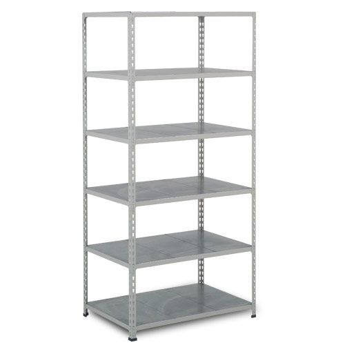 Rapid 2 Shelving (2440h x 915w) Grey - 6 Galvanized Shelves