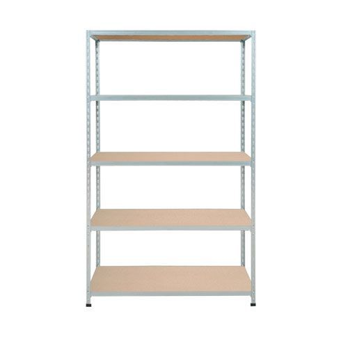 Rapid 2 Shelving (1980h x 915w) Galvanized - 5 Chipboard Shelves