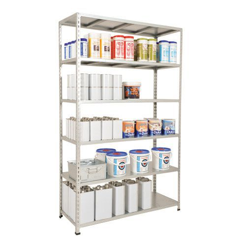 Rapid 2 Shelving (1980h x 1220w) Galvanized - 5 Galvanized Shelves