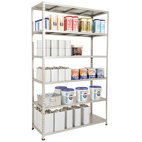 Rapid 2 Shelving (1980h x 1220w) Galvanized - 6 Galvanized Shelves