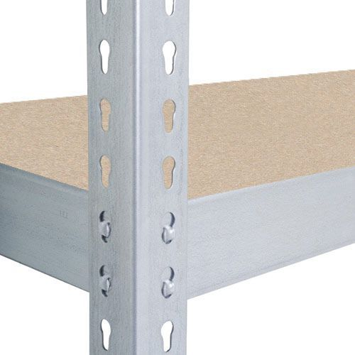 Rapid 2 Shelving (2440h x 1220w) Galvanized - 5 Chipboard Shelves