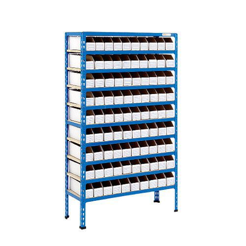 Rapid 2 Shelving (1600h x 915w) 90 Cardboard Picking Bins