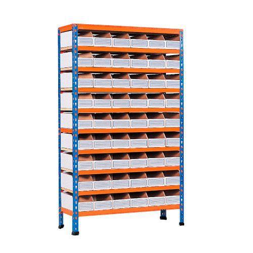 Rapid 2 Shelving (1600h x 915w) 54 Cardboard Picking Bins