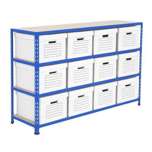 Rapid 2 Storage Bays (990h x 1220w) 12 Economy Document Boxes