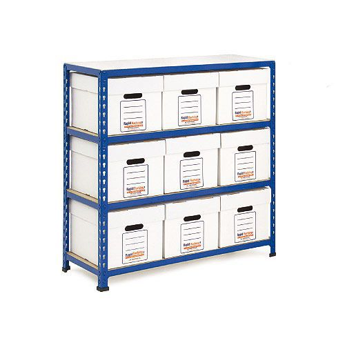 Rapid 2 Storage Bays (1015h x 915w) 9 Economy Document Boxes