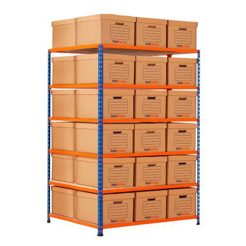 Rapid 2 Double Side Storage (1600h x 1120w) 36 Brown Document Boxes