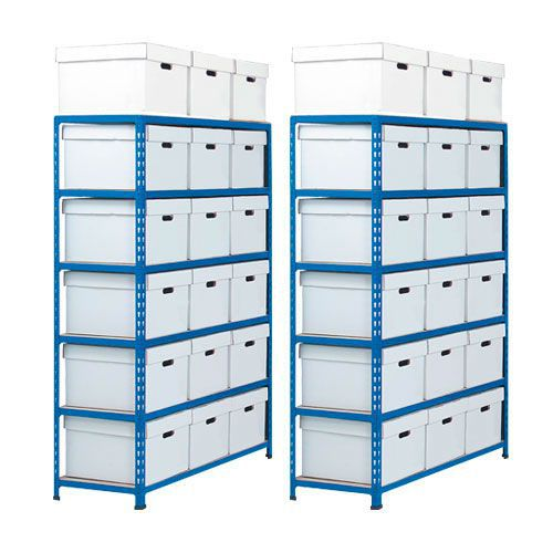 Two Rapid 2 Storage Bays (1600h x 1120w) 36 Document Boxes