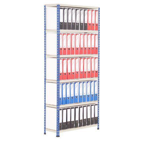 Lever Arch Storage Unit (2172h x 915w) Blue Grey With 100 Foolscap Files