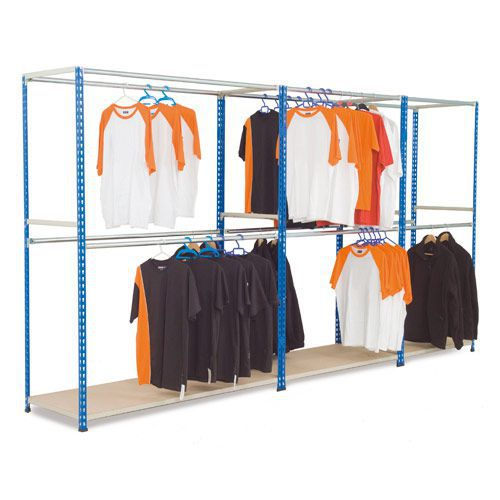 Rapid 2 Free Standing Garment Racking (1980h) With 2 Levels