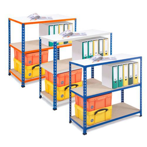Rapid 2 Low Bay - (840h x 915w) -3 Bay Offer in Blue & Grey