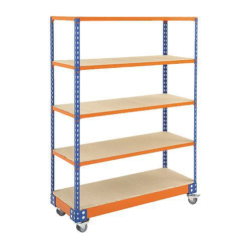Rapid 2 Trolley (1700h x 1220w) In Blue & Orange