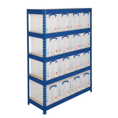 Rapid 3 Shelving (1600h x 1500w) Blue - 5 Fibreboard Shelves
