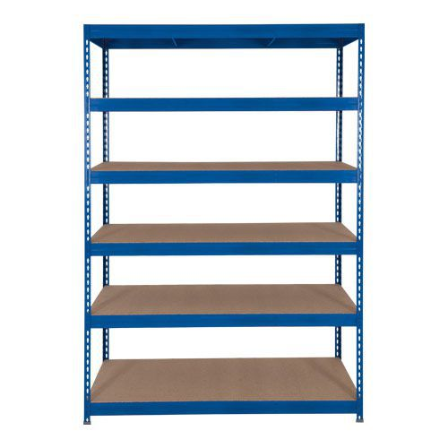 Rapid 3 Shelving (1600h x 1500w) Blue - 6 Fibreboard Shelves