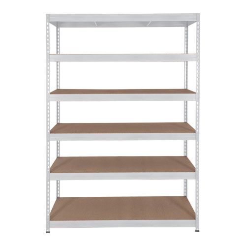 Rapid 3 Shelving (1600h x 1500w) Grey - 6 Fibreboard Shelves