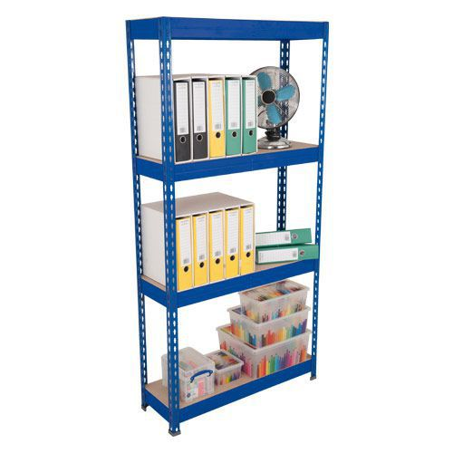 Rapid 3 Shelving (1800h x 1200w) Blue - 4 Fibreboard Shelves