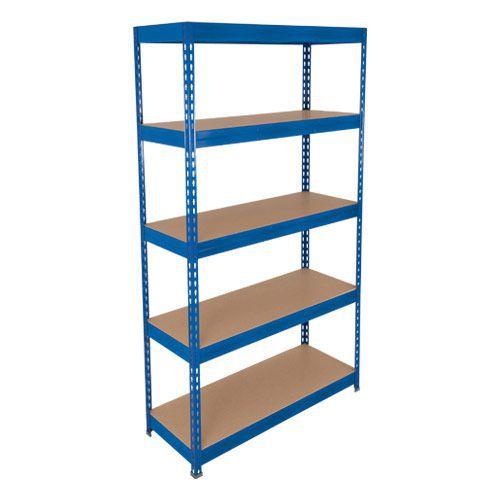 Rapid 3 Shelving (2000h x 900w) Blue - 5 Fibreboard Shelves