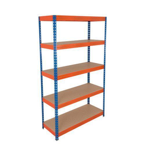 Rapid 3 Shelving (2000h x 1200w) Blue & Orange - 5 Fibreboard Shelves